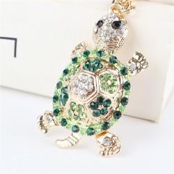 Green crystal turtle - keychain