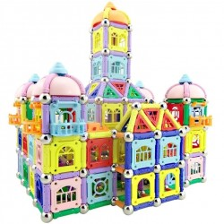 Magnet sticks with metal balls - magnetic blocks - castle building construction - DIY educational toy