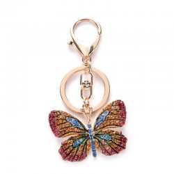 Crystal butterfly - keyring