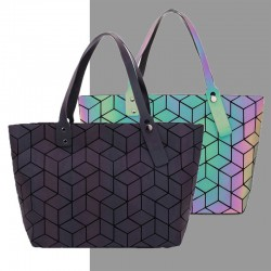 Geometry totes sequins - mirror luminous bag